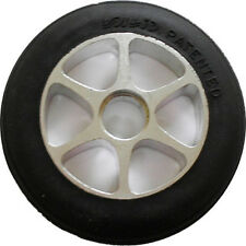 110mm Rubber on Aluminum Wheel - 2 wheels