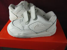 New Nike Baby Trainer V 5 Shoes Sz 4C in BOX White/Zen Gray 150171 Rare Vintage