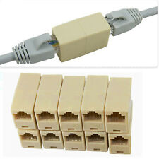 10 Pcs RJ45 Cat5 Keystone Jack Module  Network Cable Coupler Joiner Connector