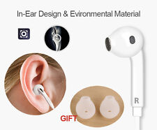 100 /lot Earphones Bass Stereo Headphones With Remote Mic Headset For Smartphone