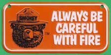 US Forest Service NEW Smokey Bear Orange Bicycle Bike License Plate Metal Sign