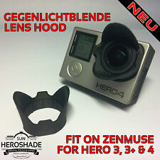 GoPro Hero oscurecidos Sun lens Hood sunshade for Zenmuse blanco/White