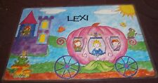 GIRLS  Name Personalised Princess Placemat NAME LEXI 44cm x 29cm Place Mat