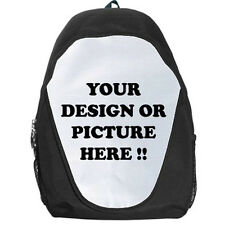 Personalized Custom Your Logo Design Photo Text Backpack Bag free shipping