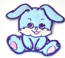 CUTE BLUE BUNNY RABBIT Embroidered Iron Sew On Cloth Patch Badge APPLIQUE