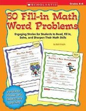 50 Fill-in Math Word Problems: Grades 4-6: Engaging Stories for Students to Read