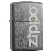 Zippo 29241, Flowers, Black Ice Chrome Finish Lighter,  Full Size