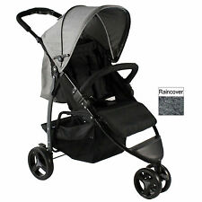NEW RED KITE PUSH ME METRO STROLLER COMPACT BUGGY LIGHTWEIGHT PUSHCHAIR GREY