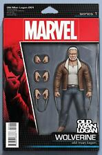 Old Man Logan #1 Christopher Action Figure Variant Cover. NM Wolverine