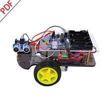 Ultrasonic Atmega-328 Smart Car Robot Starter DIY Kit for Arduino