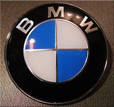 BMW 82 mm clasic BADGE HOOD or TRUNK  1 3 5 7 X SERRIE X3 X5 X6  worldwide P&P