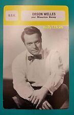 American Actor Director Producer Writer Film Star Orson Welles French Trade Card