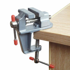 Mini Clamp-on Table Bench Vise Jewelry Hobby Home Portable Repair Tool Aluminum