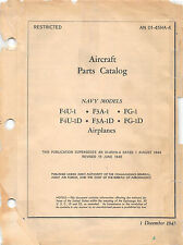 F4U-1 Corsair Aircraft Parts Catalog World War II Book Flight Manual -CD version