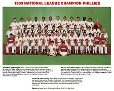 1983 PHILADELPHIA PHILLIES NATIONAL LEAGUE CHAMPS 8X10 TEAM PHOTO PICTURE