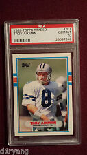 Troy Aikman 1989 Topps Traded Rookie Card RC PSA Gem Mt 10