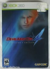 Devil May Cry 4 Collector's Edition (Xbox 360, 2008) Steelbook inc Bonus DVDs