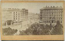 Orig.1870s Albumin CDV WIEN Elisabethbrücke, Kärntnerstrasse