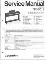 Technics PCM Digital Piano SX-PC15 Original Service Manual