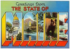 MAGNET Greetings From Photo Magnet The State of MAINE 1930-40