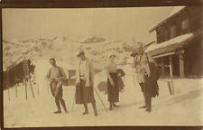 PHOTO ANCIENNE - VINTAGE SNAPSHOT - MONTAGNE NEIGE MODE PROMENADE -MOUNTAIN SNOW