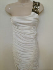 109 NWT Trixxi Juniors Sz S White Embellished One-Shoulder Cut-Out Party Dress