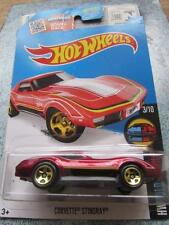 Hot Wheels 2016 #058/250 CORVETTE STINGRAY red HW Mild to Wild Long Card