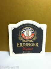Erdinger bier beer Weisbier Dunkel coaster coasters 1 stained German import U7