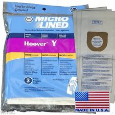 3 Bags TYPE Y HOOVER WINDTUNNEL Upright Vacuum