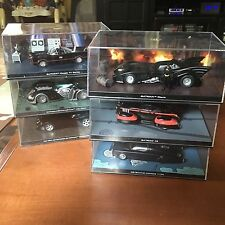 Eaglemoss DC Comics Batman 1:43 Scale Batmobile Automobilia Lot of 6