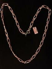 CHAINE  ARGENT MASSIF MAILLE LARGE LONG 50 CM VINTAGE NEUF /NEW SILVER CHAIN