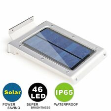46LED Solar Power PIR Motion Sensor Wall Light Outdoor Waterproof Garden Lamp