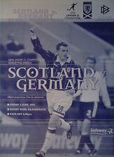 Programm U21 LS 6.6.2003 Schottland - Deutschland