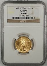 1999-W Emergency Issue $10 Dollar Gold Eagle AGE 1/4 Oz Coin NGC MS-66