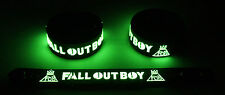 FALL OUT BOY NEW! Glow in the Dark Rubber Bracelet Wristband  GG352