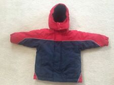 Toddler Boys size 18 months winter coat jacket Okie Dokie blue red reflective