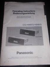 Bedienungsanleitung Panasonic CQ-H06EG / H04EG Autoradio Einbauradio Tuner Hifi