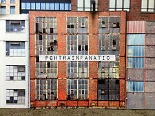 *O Scale Scratch Built Industrial #1 Factory Building Front/Flat, MTH Lionel*