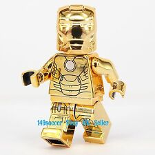 "Marvel Iron Man """" Custom """" Lego Mr Gold Mini Figures Super Hero Minifigures"
