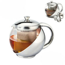 Stainless Steel Glass Teapot Tea pot with Strainer 2 CUP  500ml/ 16 oz Capacity!