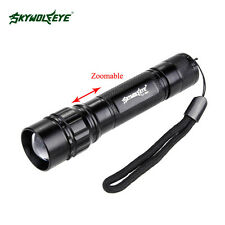 CREE Q5 LED Zoomable Focus Flashlight 6000 Lm 18650 Rechargeable Torch Lamp LN