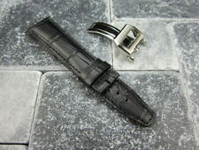 20mm Leather Strap Deployment Buckle Black Watch Band SET IWC PILOT Portuguese R