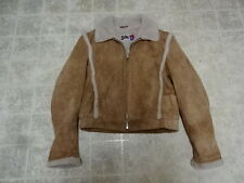 VINTAGE MADE IN USA 80'S SCHOTT LEATHER WITH FLEECE LINING  JACKET MEN 42