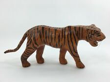 Bengal Tiger Figurine Leather Covered Teeth Yellow Eyes