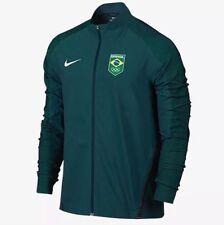 Men's Nike Flex Olympic Team Brasil Brazil Running Jacket Large green 807485 346