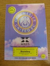 05/05/1990 Colchester United v Burnley [Last League Game] . Trusted sellers on e