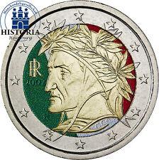 Italien 2 Euro Kursmünze 2002 bfr. Dante Alighieri in Farbe