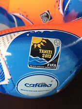 ADIDAS Beach Soccer CAFUSA Ball Matchball FIFA WM NEU 2013 WC Logo Patch Praia