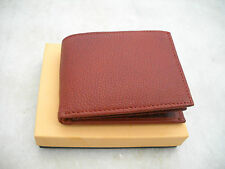 Handmade Pure Leather wallet Bifold Leather men's Purse in gift box