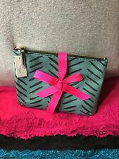 Handbag Fossil Keely Herringbone Multi Coated Canvas Zip Pouch Cosmetic Bag